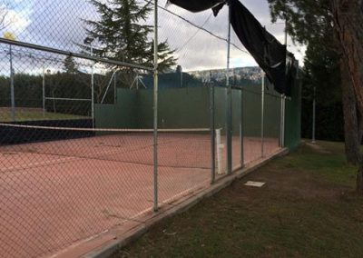 Paddle court modification in Carrascal