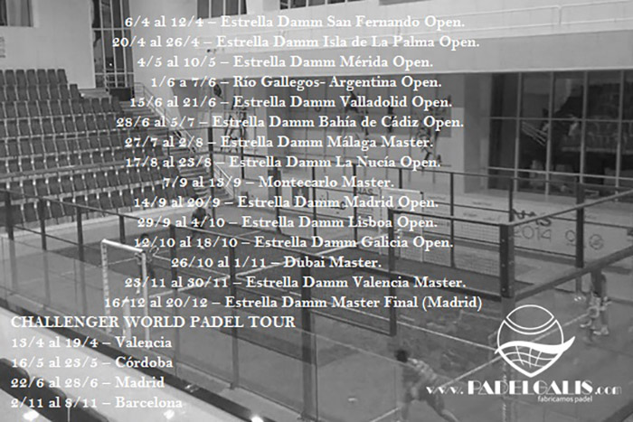 World Padel Tour Calendar